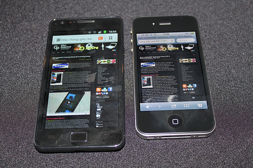 Galaxy SII vs. iPhone