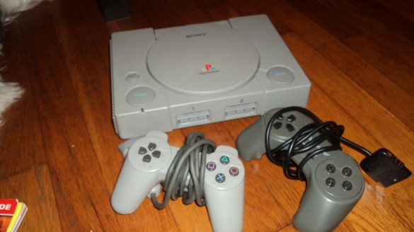 Playstation Console with cables