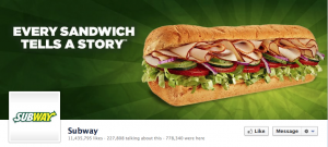 Subway Facebook Cover Photo