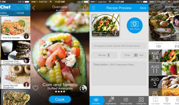 Voice Activated Step by Step Recipe Guide App: SideChef